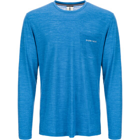 super.natural Movement Longsleeve Heren, vallarta blue melange